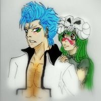 Grimmjow and NelTu by grimmiko88