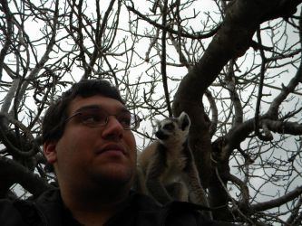 Me with a lemur by kailor