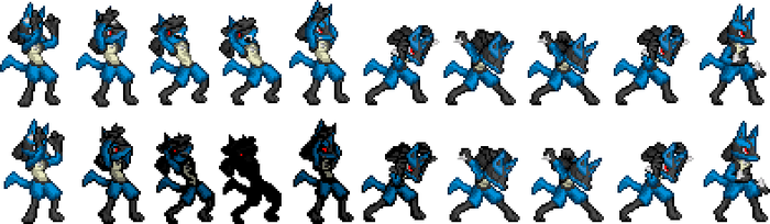 More Goenitz to Lucario sprite by ralord