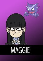 Loud House Pokemon Cards: Maggie by MrYoshi1996