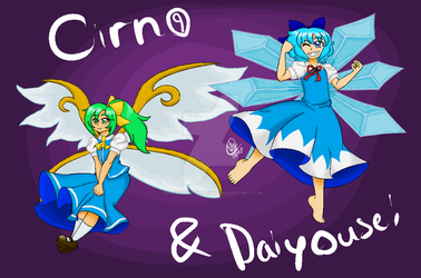 Cirno and Daiyousei by SplendorOfArachne