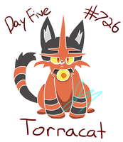 Pokecember 5: Fave Fire Type: Torracat by HyperSonicFire15
