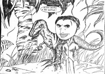 Pet Raptor and me by contey
