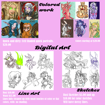 Digital Art Commissions by lilena
