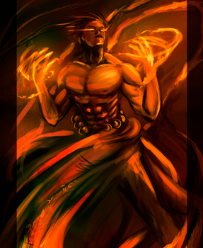 Fire Mage by SHAWN-O-B0T