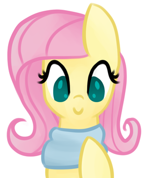 Fluttershy with Scarf by azurequillarts