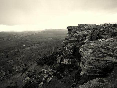 Rock Face in the Rain by NiftyBadger