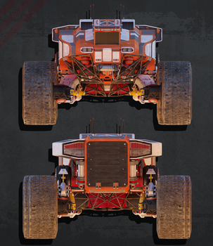 Planetary Exsploration Vehicle: Orthographic View2 by sasa454