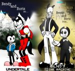 HalloweenSpecial(Sans And Papyrus/Bendy and Boris) by CAcartoon