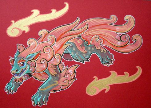 nikko temple foo dog by missmonster