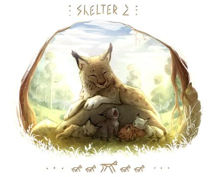 Shelter 2. Mother-lynx by Ann-Nick