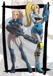 Commission: Nova and Samus by KukuruyoArt
