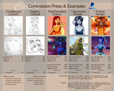 Commission Price List by IlithyiaEidsvag