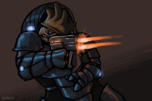 Krogan mercenary by Kobb