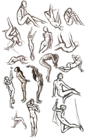 Gesture Sketches by Susiron