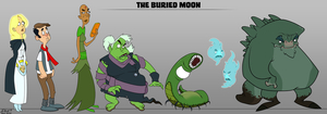 Buried Moon Lineup Post by dwaynebiddixart