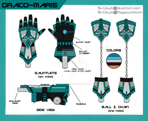 RWBY OC Weapon - Draco Maris by BlissClouds