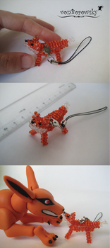 Beaded Fox by vonBorowsky