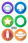Space Icons by Cealcrest