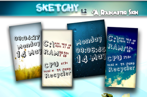 Sketchy 1.2 - Rainmeter Skin by vikkimnm