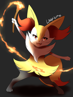 The little fire witch !! by lazy-Time
