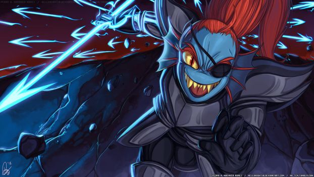 UNDERTALE - Royal Spear Undyne by Hellknight10