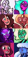 Steven Universe - Fusion Gems by iSheep-0G2