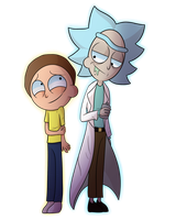 Rick and Morty Drawing by thecutefluffykitten