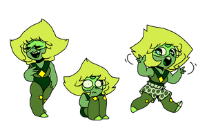 some peridots by Mushroom-Cookie-Bear