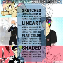 Official Commission Sheet -OPEN- by Lexathet