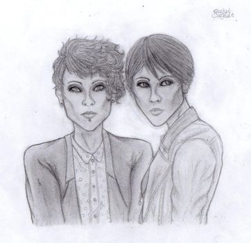 tegan and sara by pinocchiosVices