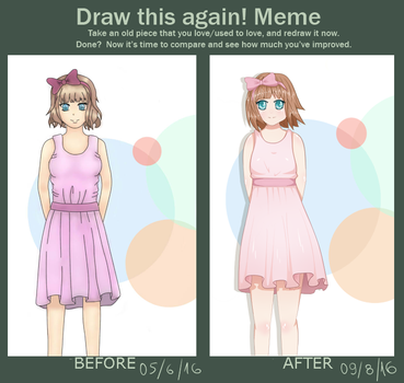 Draw this again! Meme 2-month progress by lolipolicute