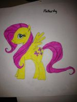 Second attempt: Fluttershy by RcM595