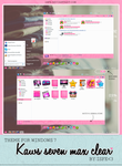 Theme for windows 7 Kaws Seven Max Clear (Pink) by Isfe