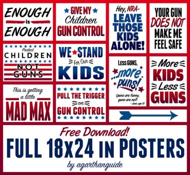 GUN CONTROL SIGNS FOR FREE DOWNLOAD by AgarthanGuide