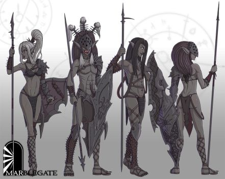 Black Elf Soldiers by Brett-Neufeld