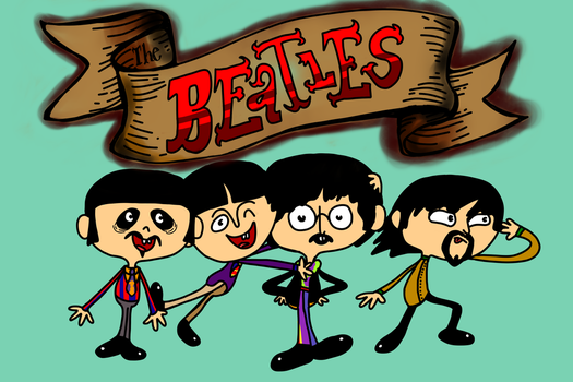 The Beatles Flapjack-style Request by Cursed-9-11