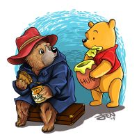 Paddington and Pooh by Lillidan86