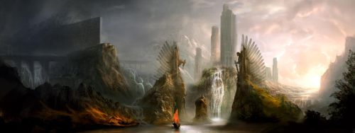 Gates of the Collosal by GeorgeLovesyArt