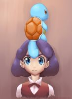 Squirtle on Burgundy by MurPloxy
