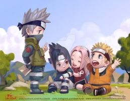 NARUTO - Kakashi Team by inhyuklee