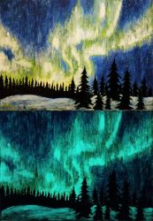 Update! Aurora Borealis - day and night FOR SALE by Miruna-Lavinia