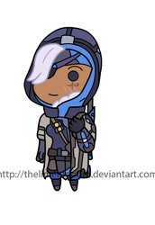Ana chibi by thelimeofdoom