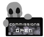Dead Child Commissions OPEN Stamp by InkCartoon