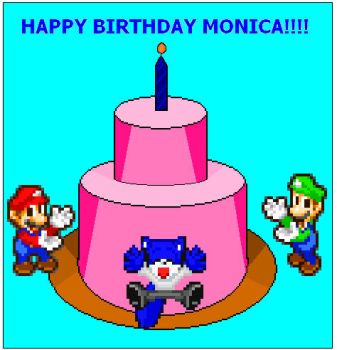 happy birthday monica by jackthesquirrel