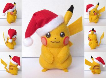 Santa Hat Pikachu by ToodlesTeam