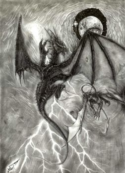 Fighting Dragons by AlphonseCapone