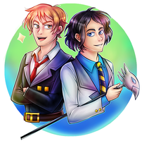 [Comissions] Andrei and Elliott by Izariez