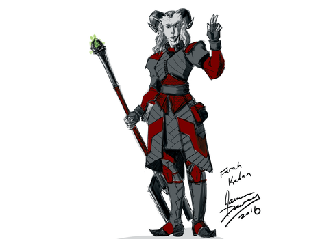Rough sketch of my Dragon Age character by jamesdawsey