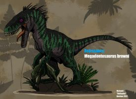 Retrosaurs: Megadontosaurus browni (Updated) by HellraptorStudios